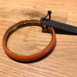 JCrew orange enamel bangle NWT